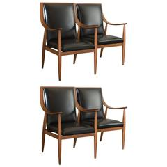 Set of Four Armchairs by Silvio Cavatorta
