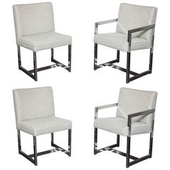 Set of Four Milo Baughman Dining Chairs