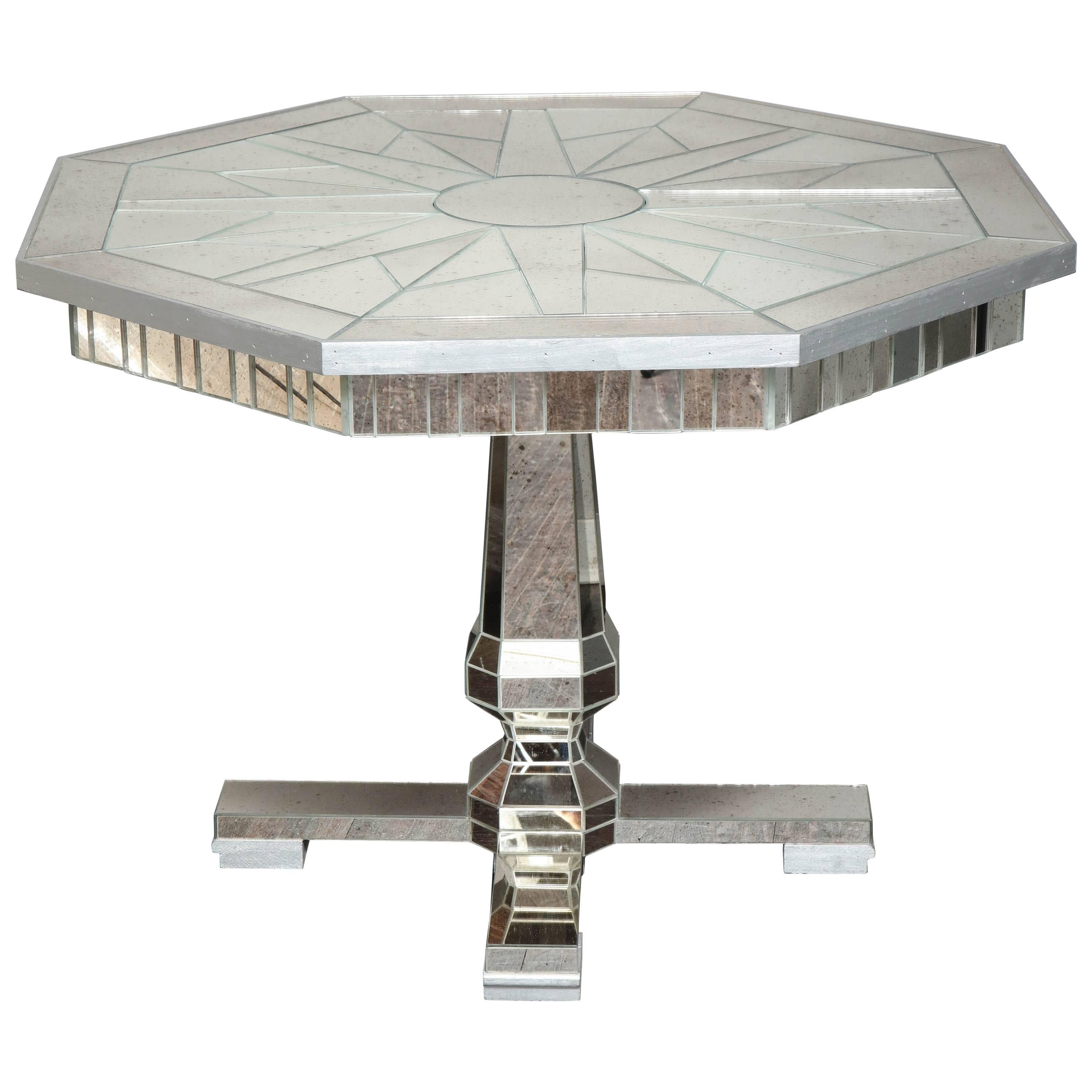 Mirrored Centre Hall or Dining Table