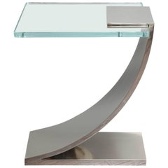 Custom Nickel Plated Z Side Table