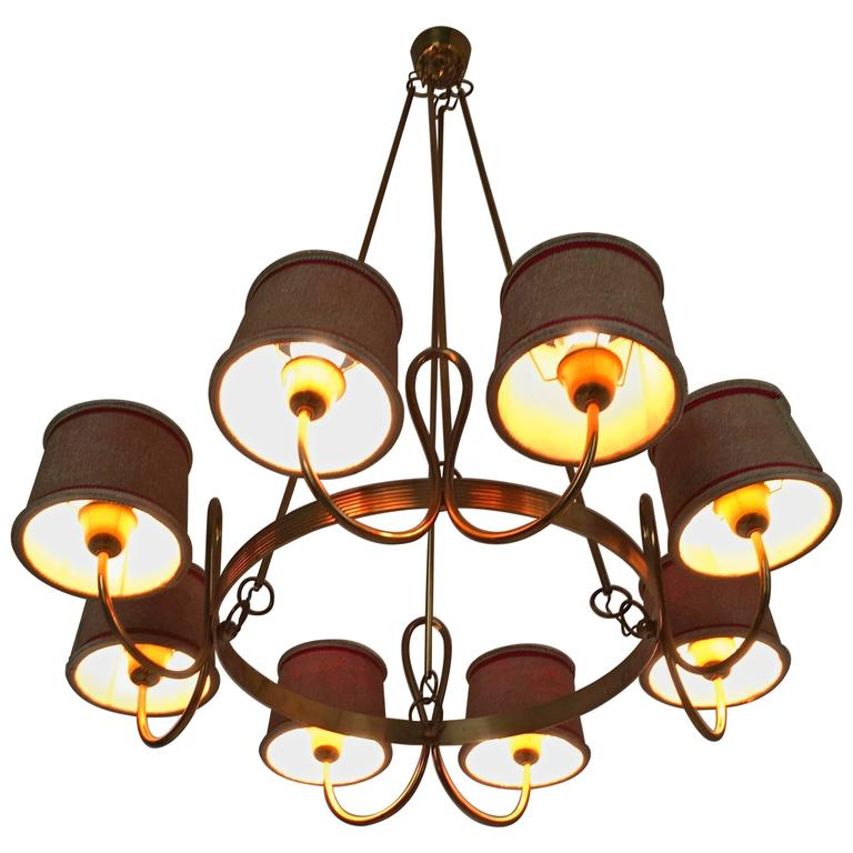 Chandelier Attributed to Gino Sarfatti, Italy, 1940s For Sale