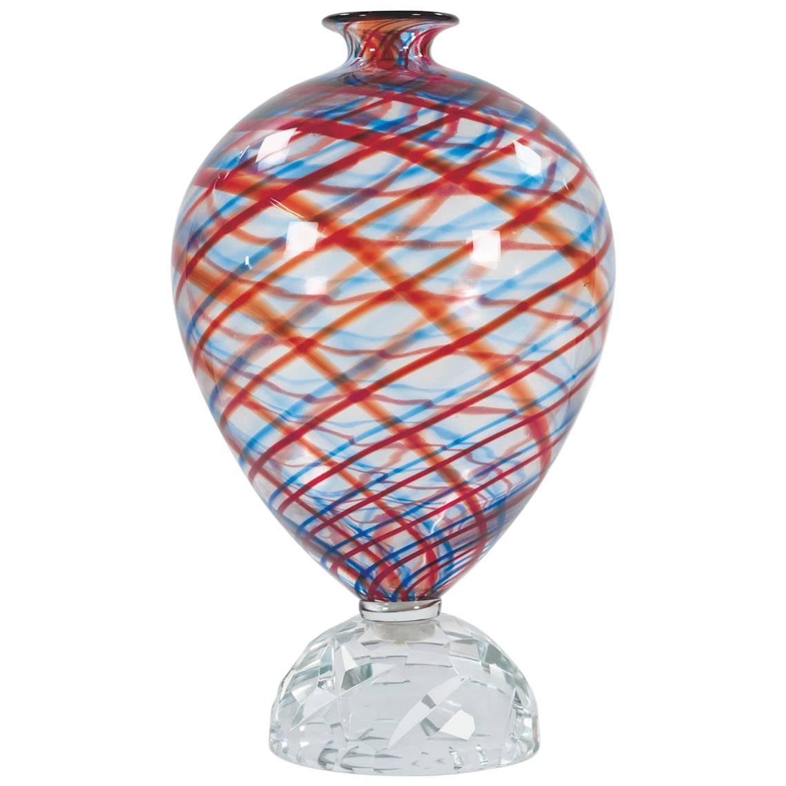 Italian Murano Glass Vase by Alessandro Mendini for Venini, Italy