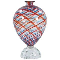 Alessandro Mendini Italian Murano Glass Vase Model Simirone Venini
