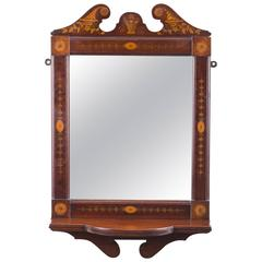Early 20th Century Mahogany Inlaid Marquetry Mirror