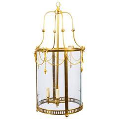 Sheraton Style Solid Brass Circular Lantern