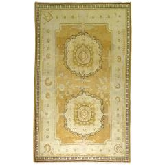 East Turkestan Rug in Yellow