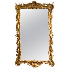 Stunning Large Rectangular Decorative Gilded Mirror 181 x 102 cm