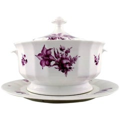 Royal Copenhagen Large Purpur Soup Tureen with Dish