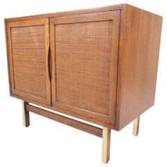 Mid-Century American of Martinsville Cane Front Cabinet