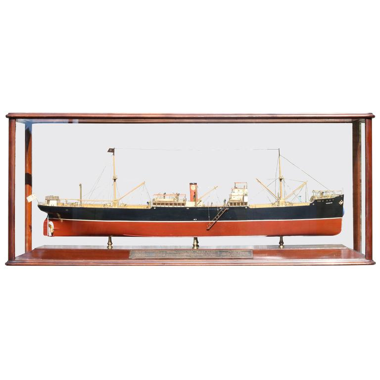 Builder's Model of a Cargo Ship