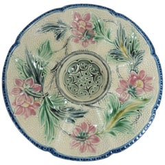 Majolica Oyster Plate Wasmuel, circa 1890