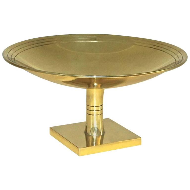 Tommi Parzinger for Dorlyn Large Brass Footed Compote