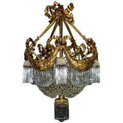 Antique Chandelier Louis XVI Style