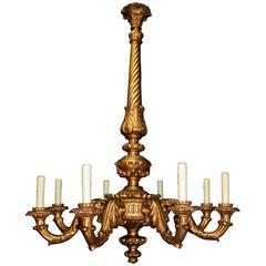 Antique Chandelier, Giltwood