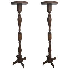 Pair of 19th Century American Faux Grain Stands