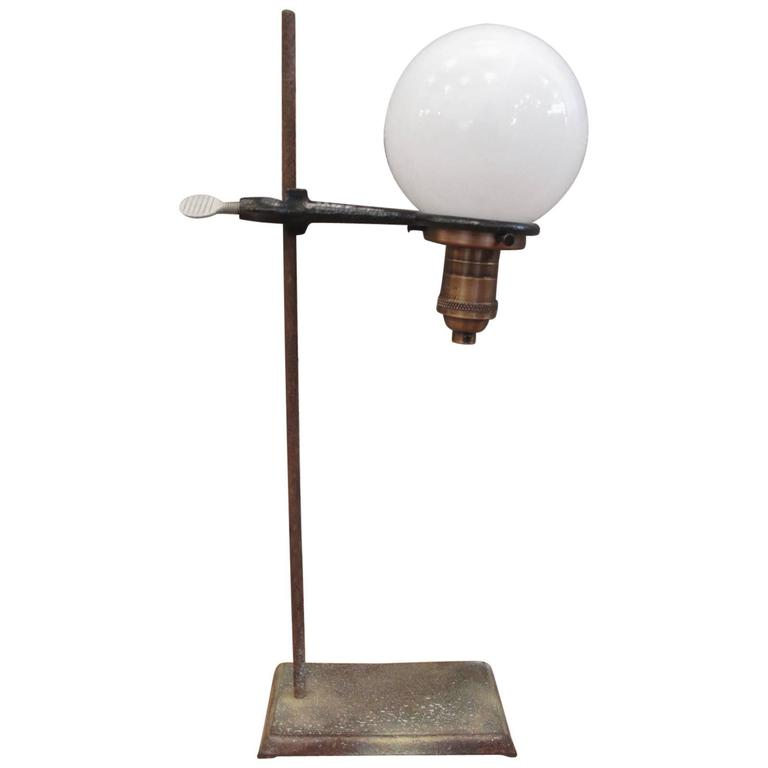 Industrial Laboratory Stand Lamp At 1stdibs