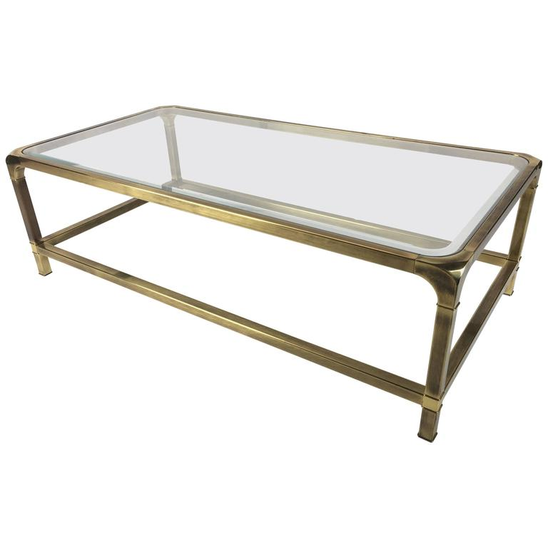Brass Coffee Table by Mastercraft 1