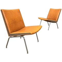 Airport Slipper Lounge Chairs by Hans J. Wegner, Denmark