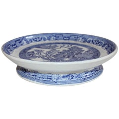 19th Century Blue Willow Cake Plate