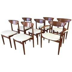 Set of Seven Uncommon Hvidt and Mølgaard-nielsen Teak Dining Chairs