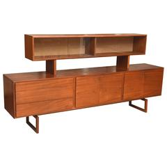 Bodil Kjaer Danish Teak Sideboard Manufactured by E. Pedersen and Sons, 1950s
