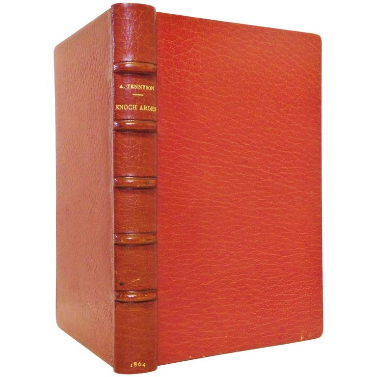 Alfred Tennyson, Poet Laureate, 1st Edition of Enoch Arden, Etc, 1864, Leather For Sale