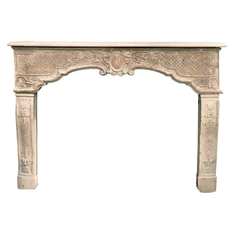 Beautiful 18th Century French Mantelpiece with Trumeau