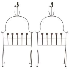 Pair of Headboard, Iron, circa 1960, France