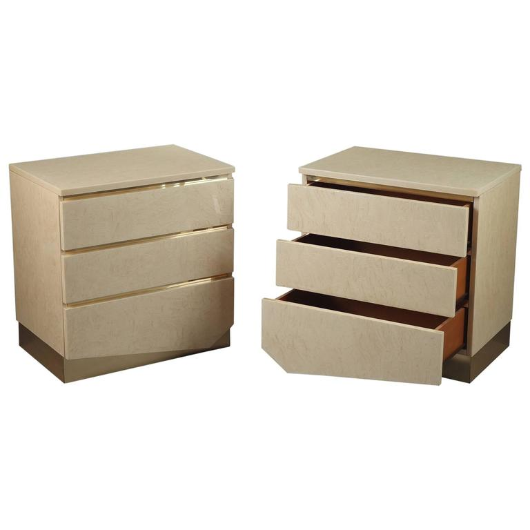 1980s Pair of Nightstands by Jean Claude Mahey & Eric Maville For Sale