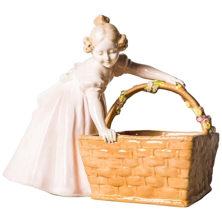 Goldscheider Viennese Figure Girl with Basket