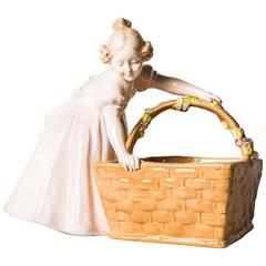 Goldscheider Viennese Figure Girl with Basket
