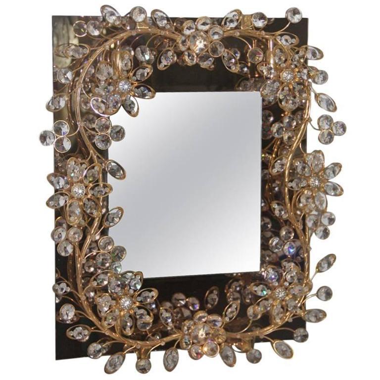 Rare and Special Mirror Design Sciolari Roma, 1970s