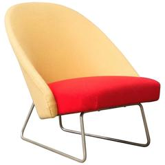 1959, Theo Ruth for Artifort, Rare Comfortable Armchair Model 115 in Two Colors