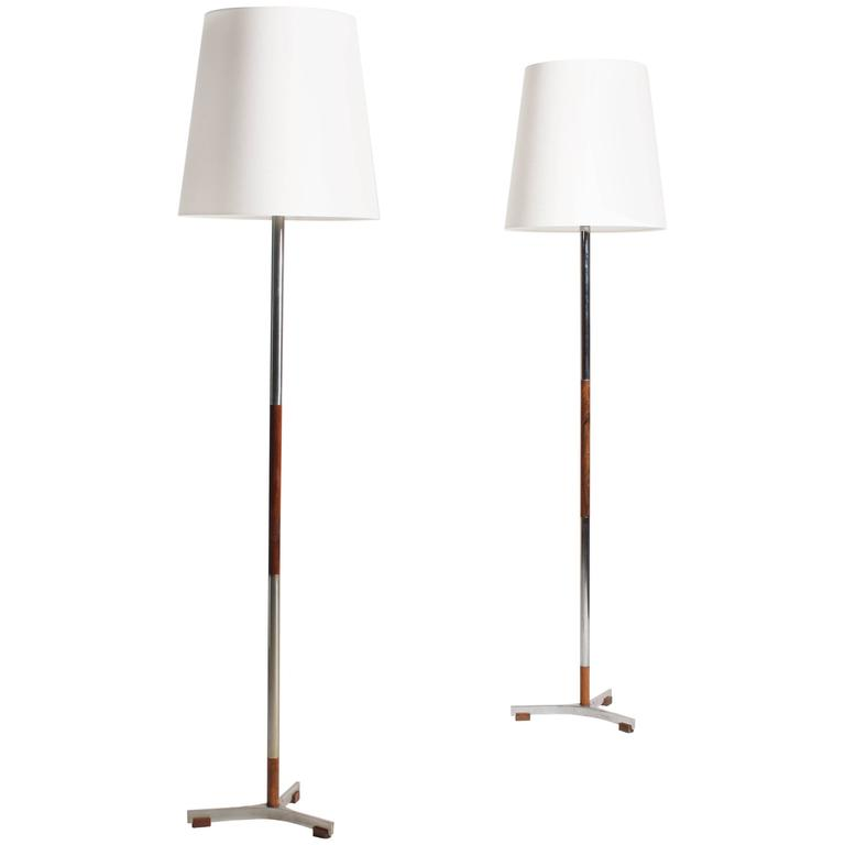 Pair of President Floor Lamps by Jo Hammerborg 1