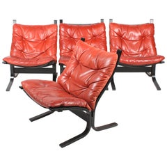 Group of Four Lounge Chairs by Ingmar Relling