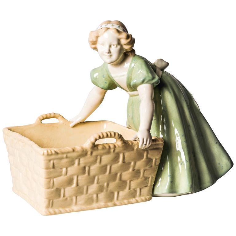 Goldscheider Figure Girl with Basket
