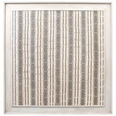 Large Modernist Framed Textile