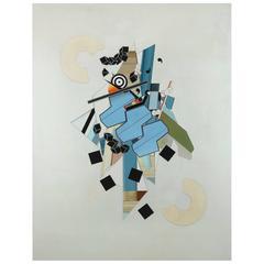 """Constructivist Composition """"Objet de l'espace"""" by Alain Le Yaouanc"""