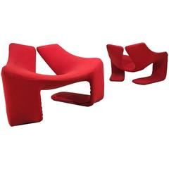 "Pair of ""Zen"" Lounge Chairs by Kwok Hoi Chan for Steiner Paris"