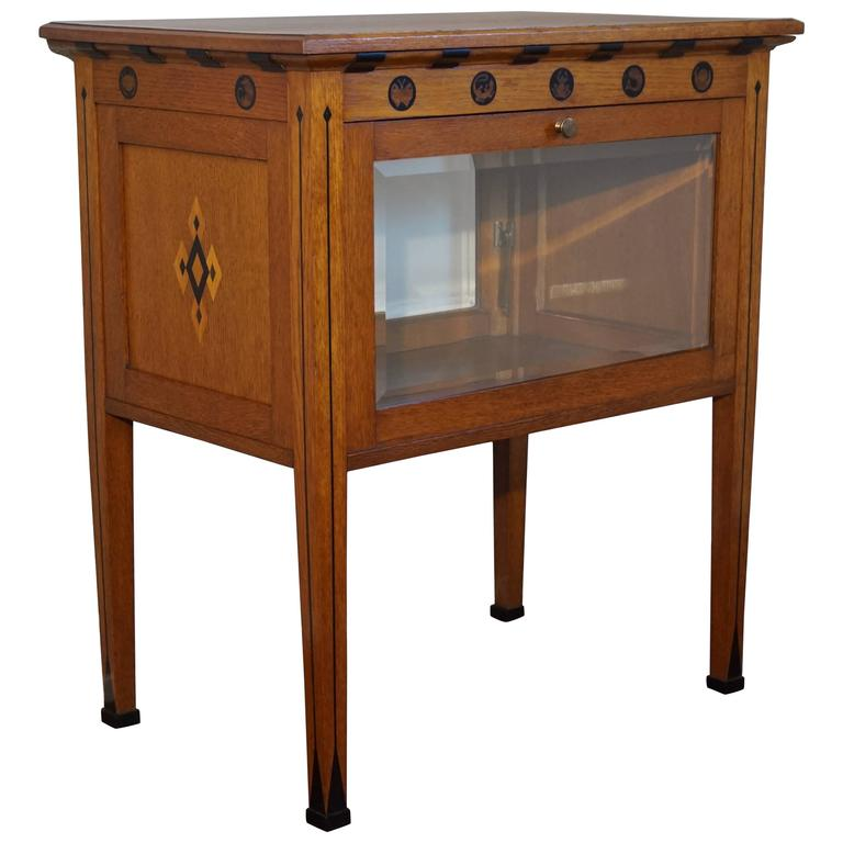 Important and Probably Unique Arts & Crafts Display Cabinet by Napoleon Le Grand