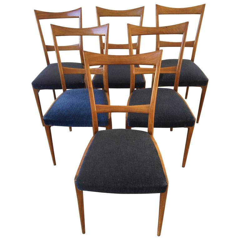 Six Dining Chairs in the Manner of Gio Ponti