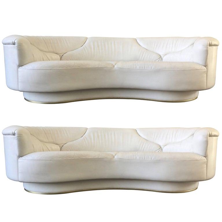 White Leather De Sede Milo Baughman