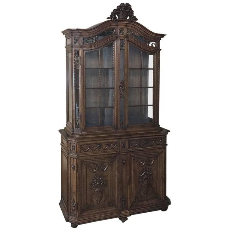 19th Century Grand French Regence Bookcase, Vitrine