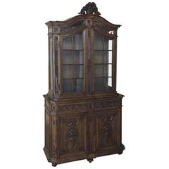 19th Century Grand French Regence Bookcase, Vitrine