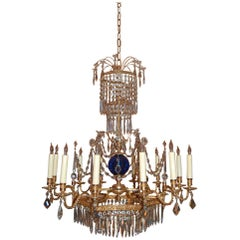 Russian Neoclassical Style St. Petersburg Reproduction Twelve-Light Chandelier