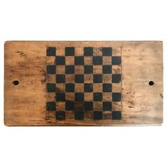 19th Century Wooden Checker Board