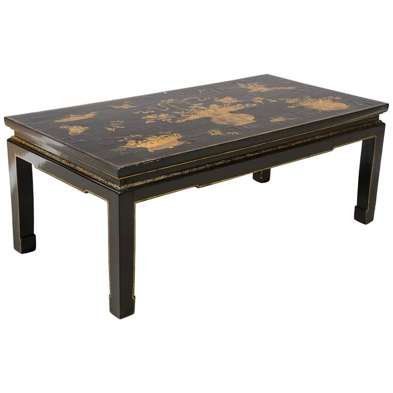 Black and Gilt Japanese Low Table