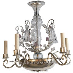 Four French Baguès Chandeliers