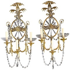 Pair of Caldwell Sconces with Crystals