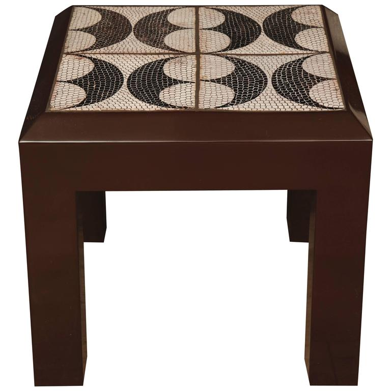 Tile Side Table For Sale